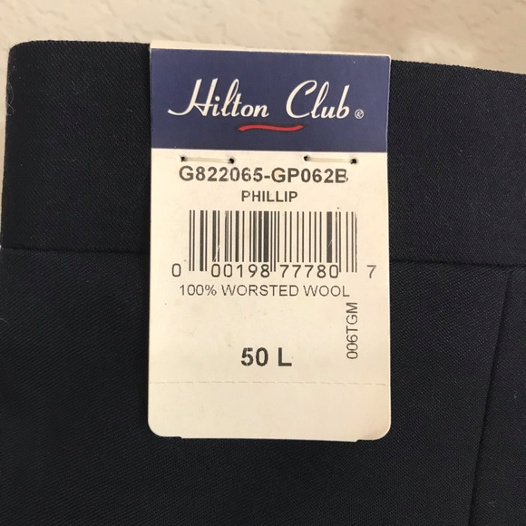 1b298d0c1dc20 NWT Men's Hilton Club 50L Worsted Wool Slack Pant NWT